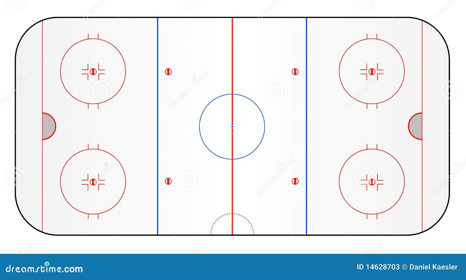 Hokeja zmielony lód