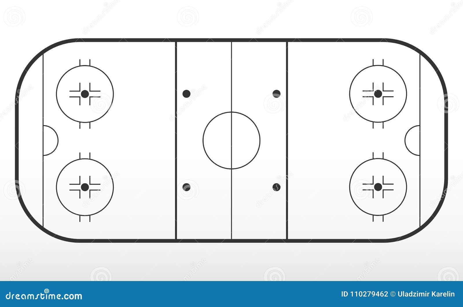 Hokejowa lodowisko marża Kontur linie na lodowego hokeja lodowisku