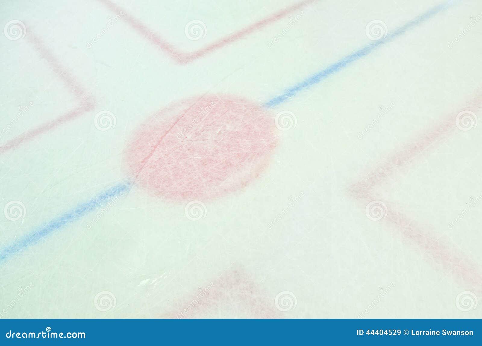 Hokejowy arena lodu face-off okrąg