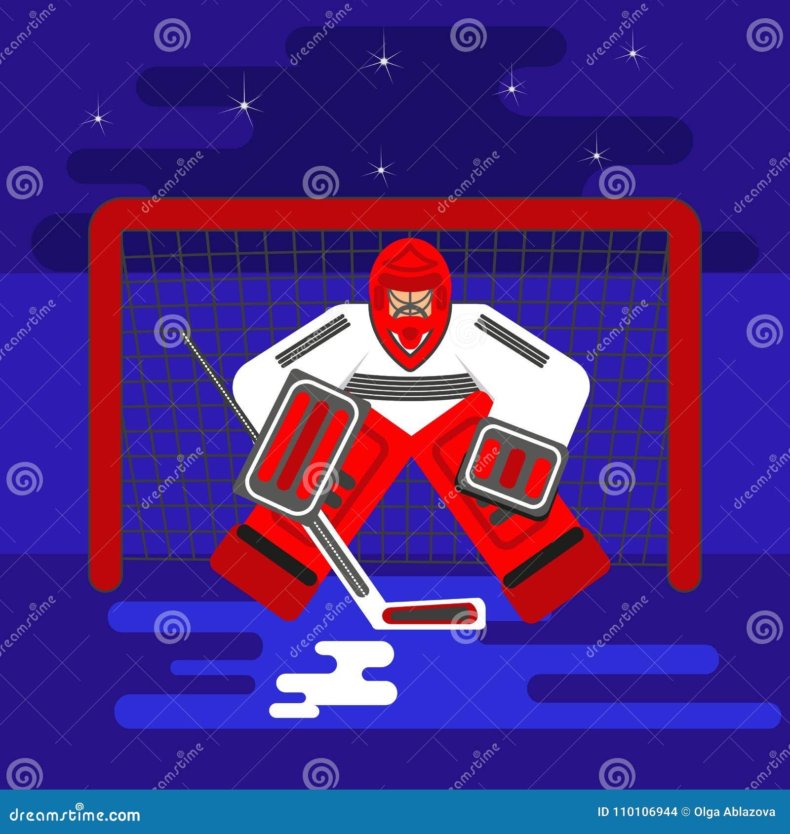Hokejowy bramkarza mieszkanie