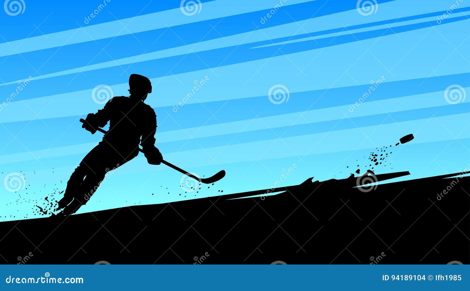 Hokejowy dynamiczny gracz