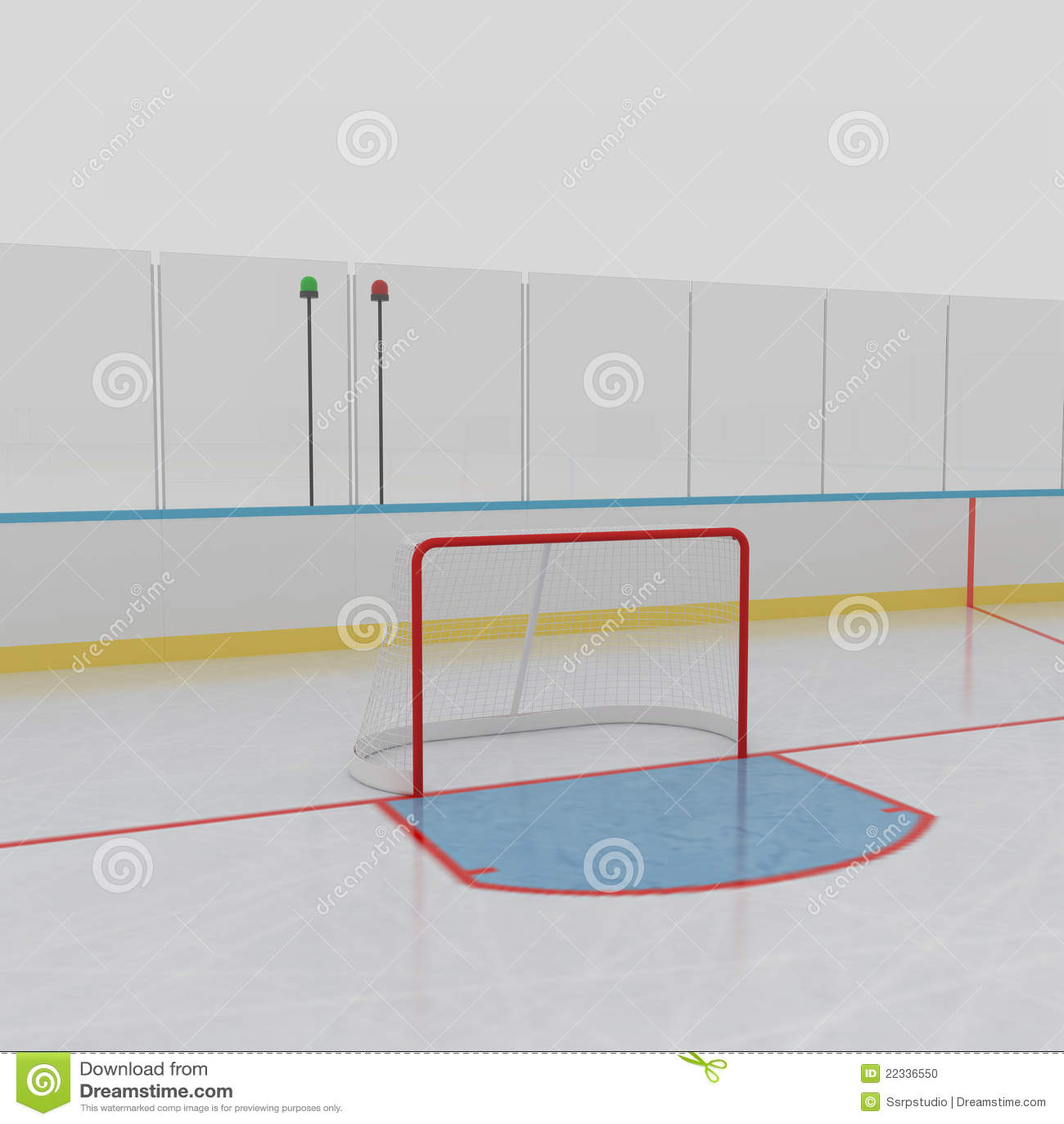 Hokejowy lodowy lodowisko