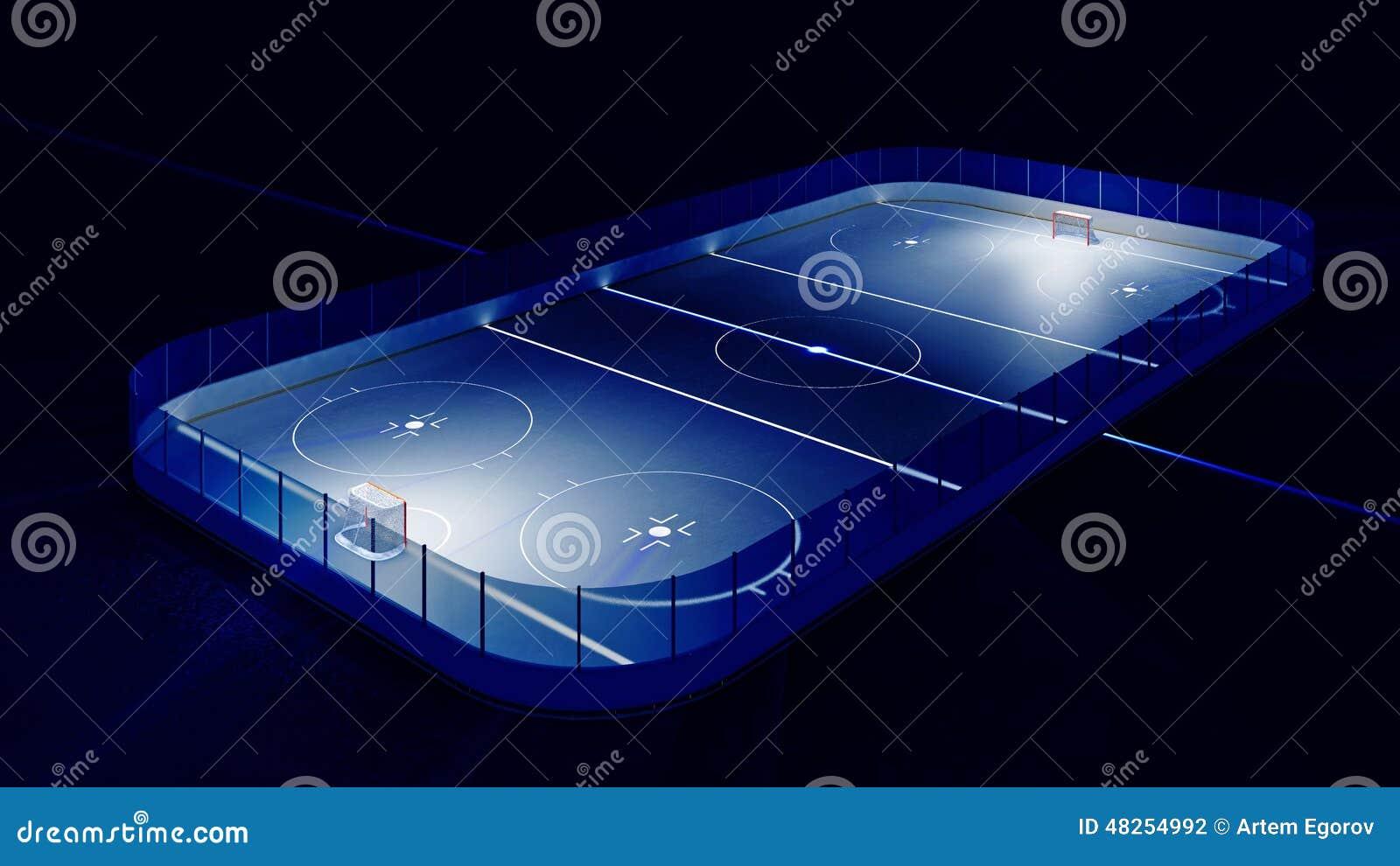 Hokejowy lodowy lodowisko i cel