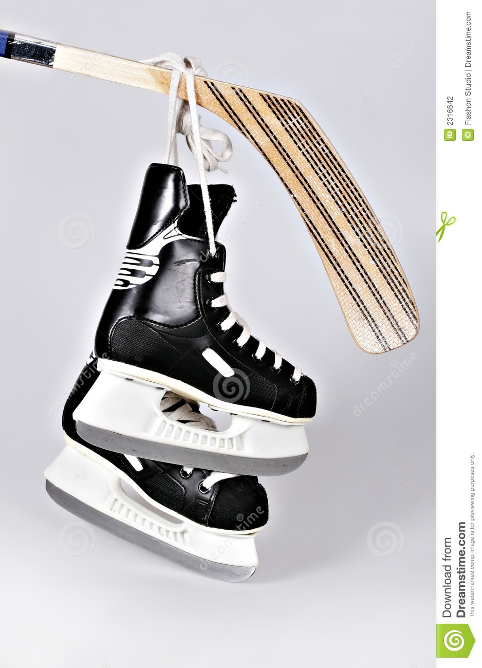 Hokey Skates And Stick Stock Photography Image 2316642