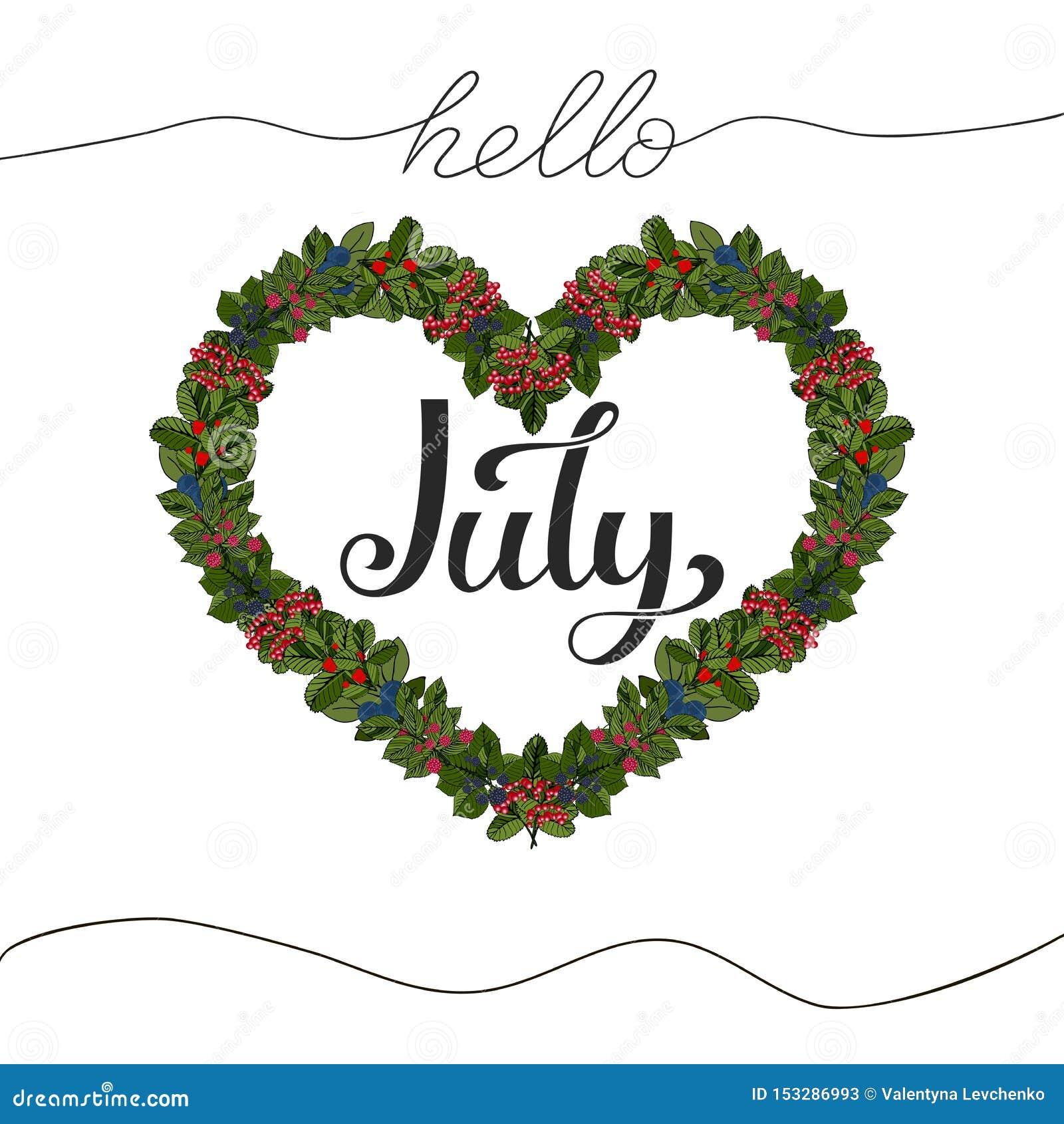Hola letras exhaustas de la mano de julio Ilustraci?n del vector