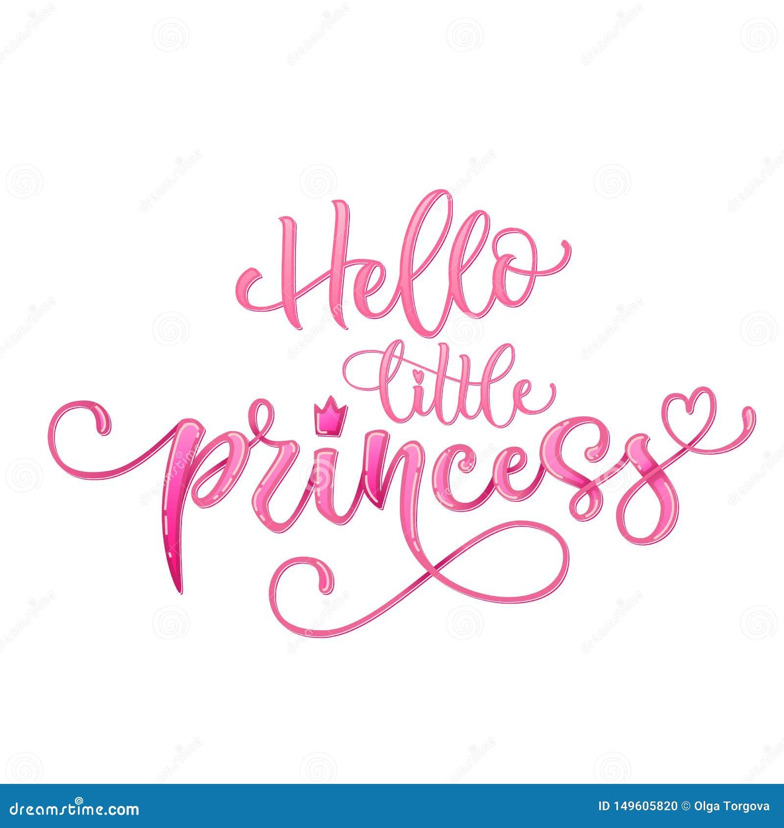 Hola Poca Cita De La Princesa Fiesta De Bienvenida Al Bebé