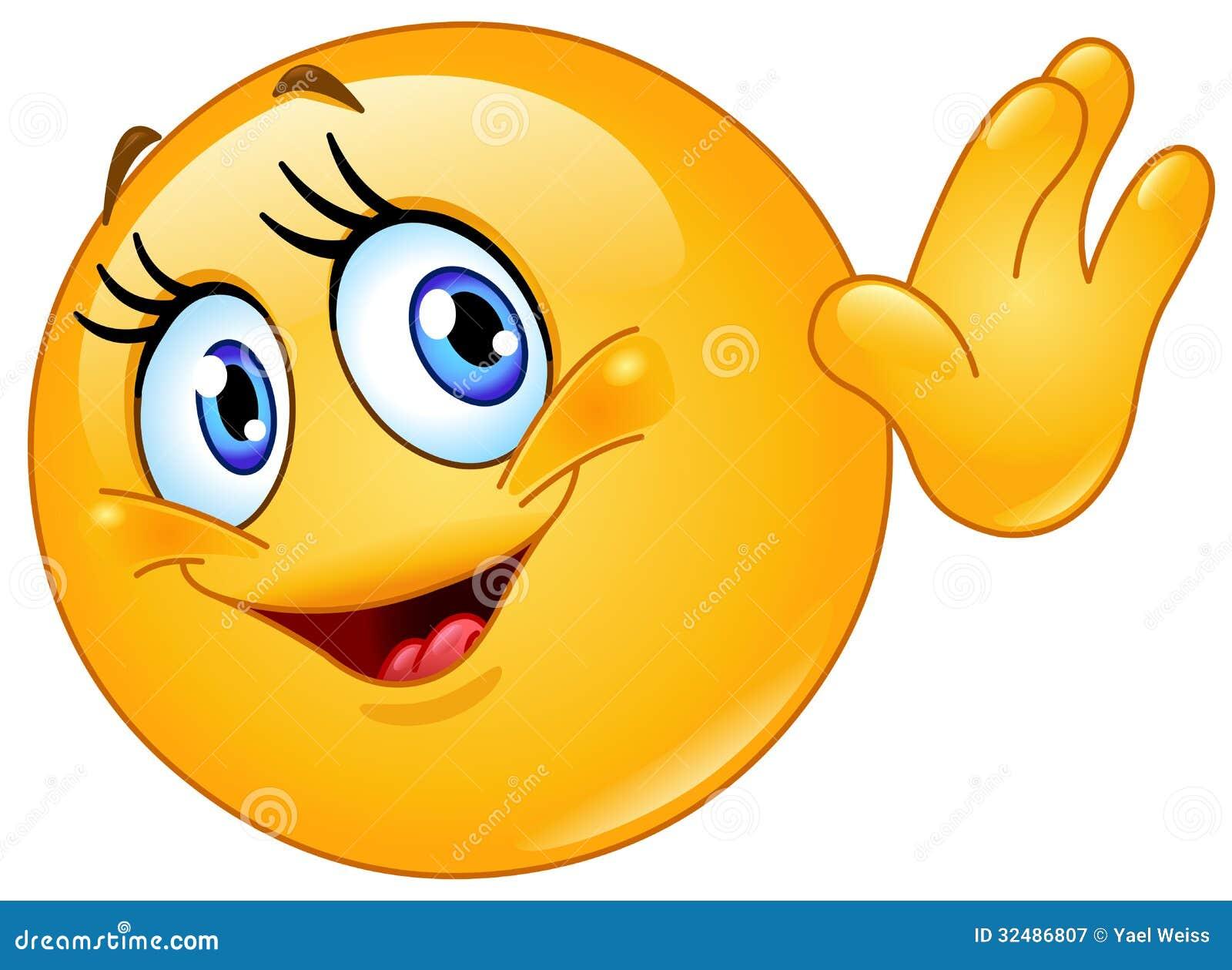 Tu primer tema Hola-que-agita-del-emoticon-femenino-32486807