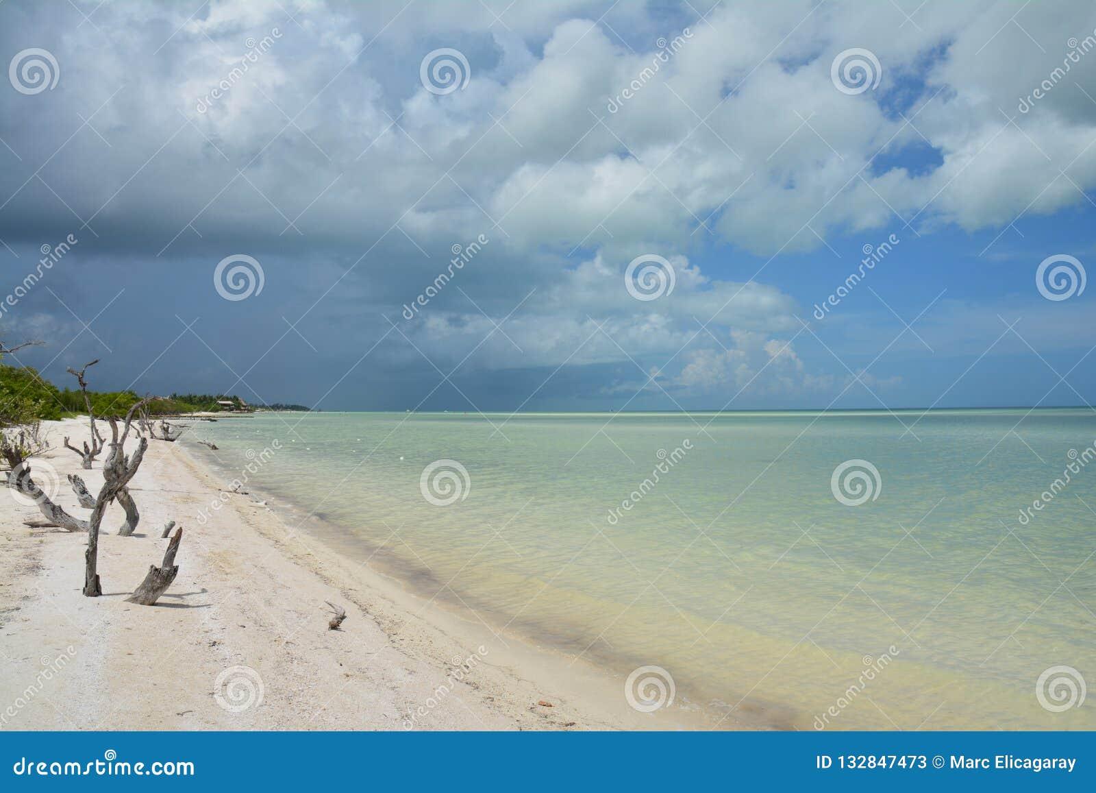 Holboxeiland in de Provincie van Quintana Roo in Mexico