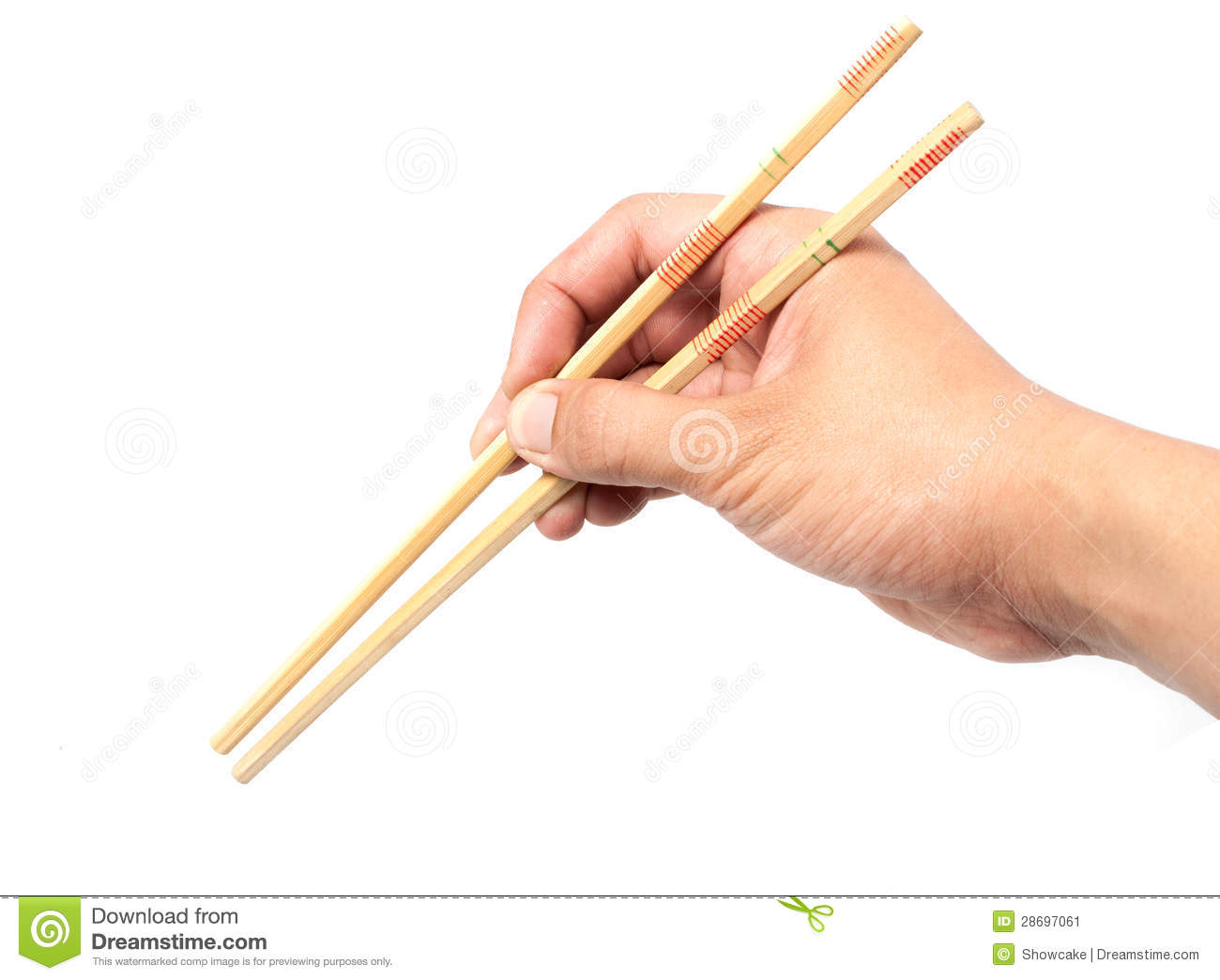 Hold Chopsticks Stock Image - Image: 28697061