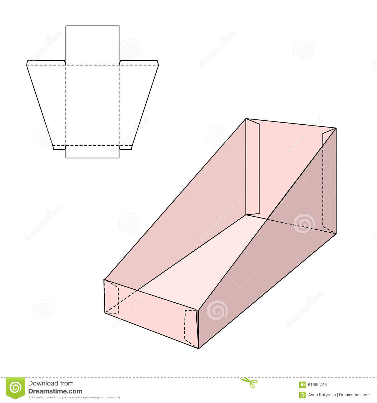 Holder box template stock vector image 61689746 for Box templates vector