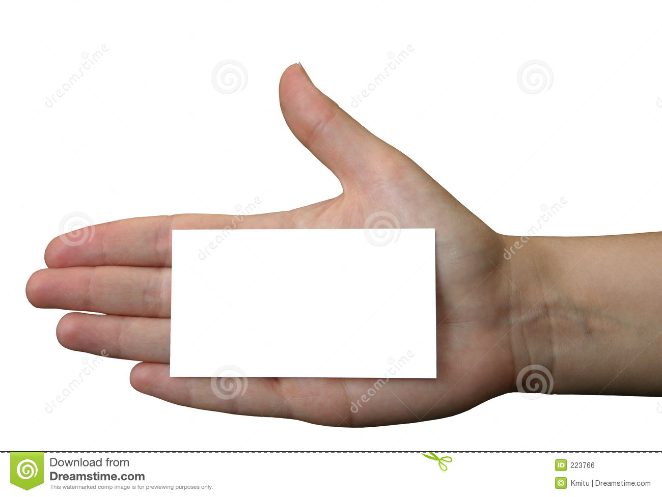 Holding Blank Business Card #2 Royalty Free Stock Image - Image ...