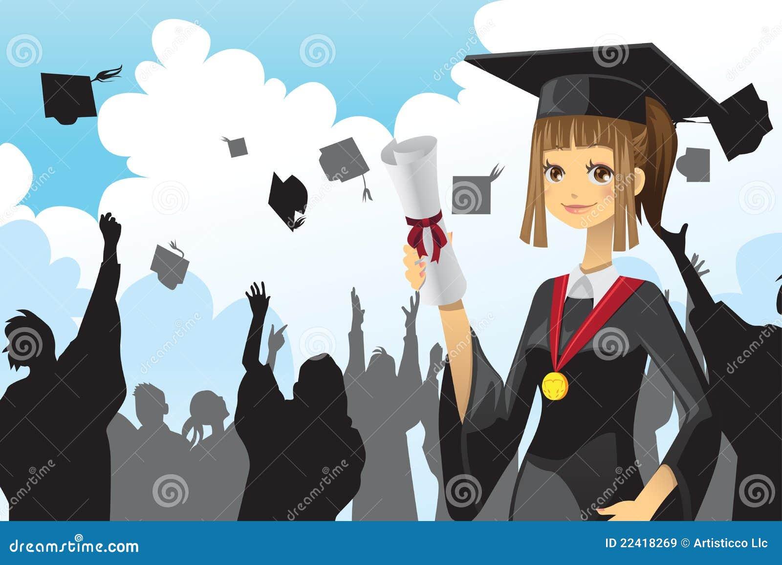 Holding för diplomflickaavläggande av examen