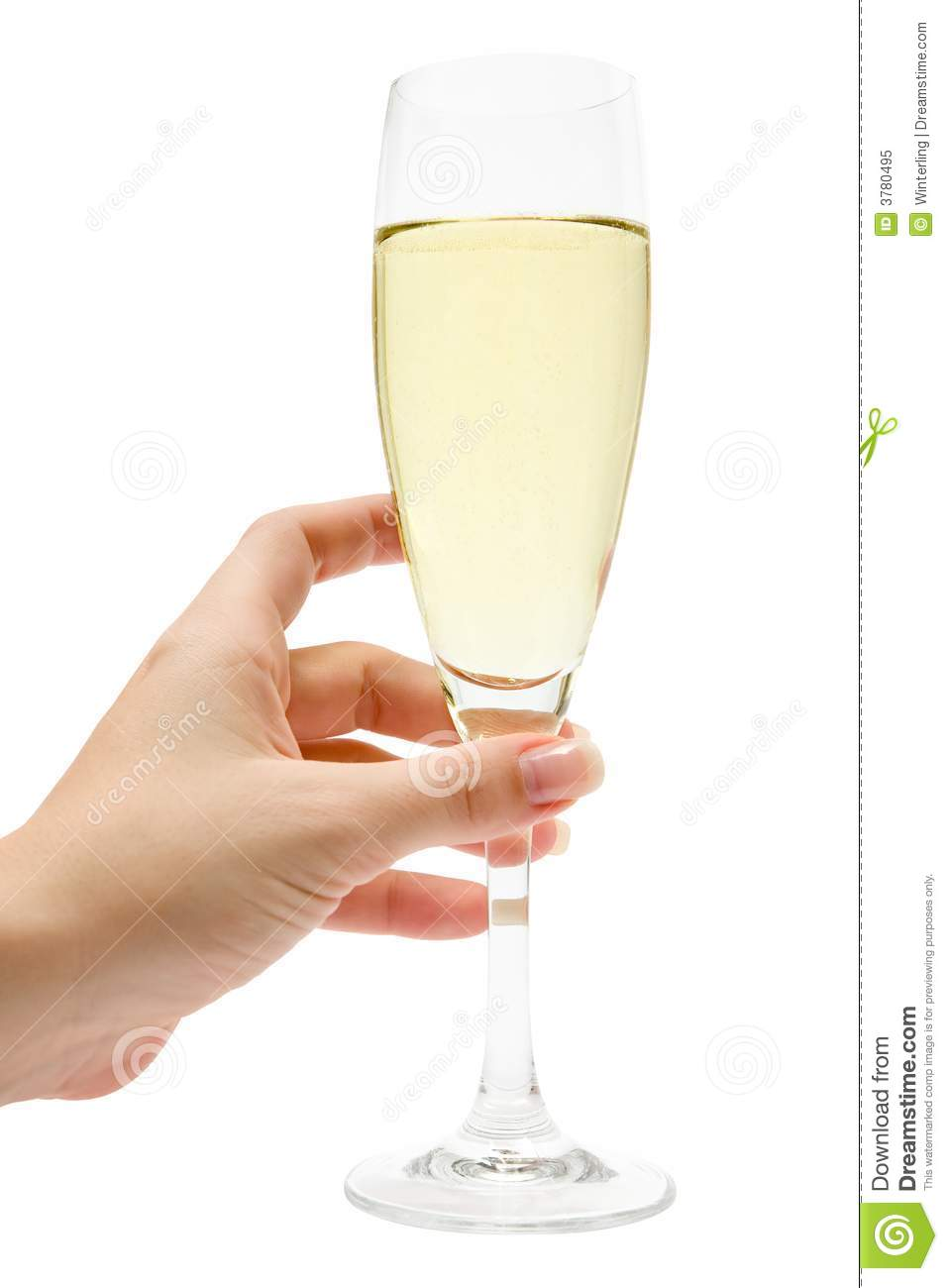 Holding A Glass Of Champagne Royalty Free Stock Photo