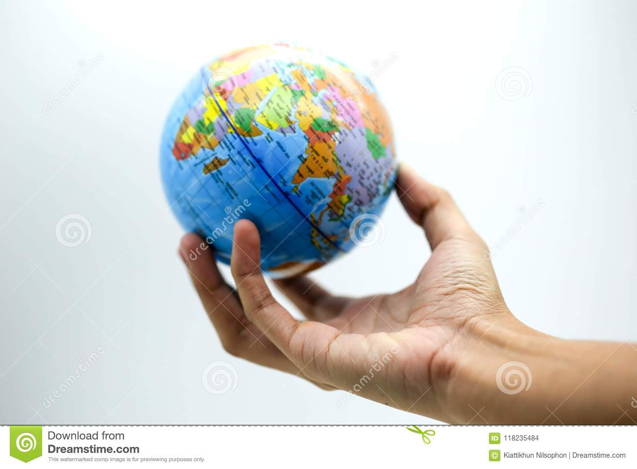 World Map On Hands.Holding Globe World Map On Hands Stock Photo Image Of Environment