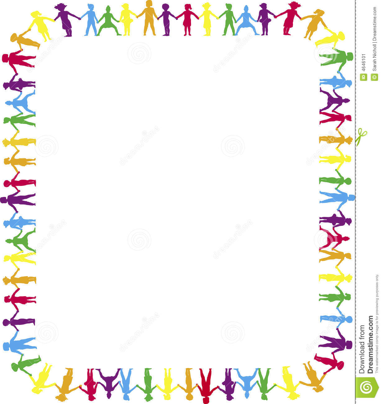 Holding Hands Border 2 Stock Illustration Image Of Child