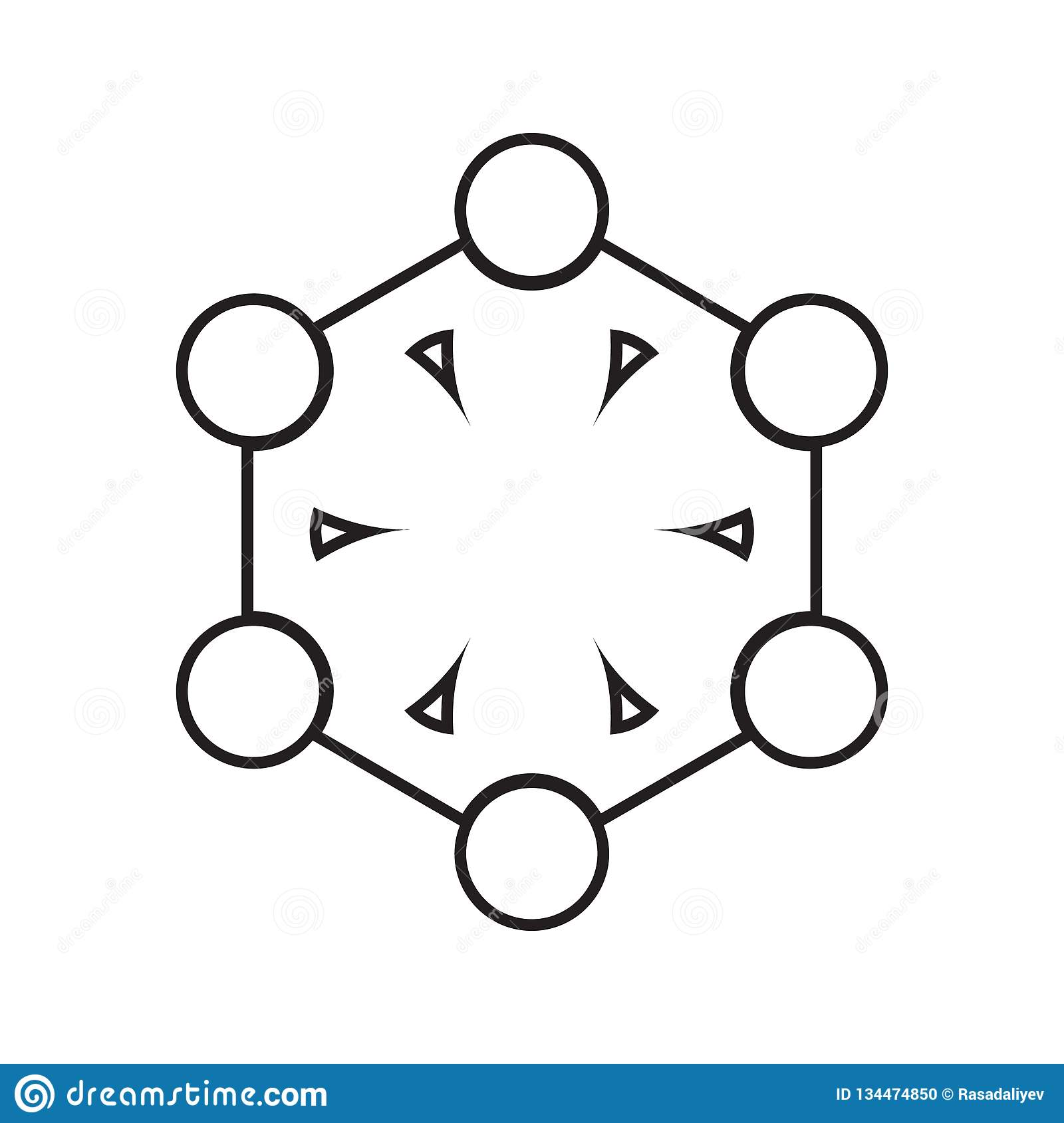 Holding hands icon. Element of Conversation and Friendship for mobile concept and web apps icon. Thin line icon for website design. And development, app royalty free illustration