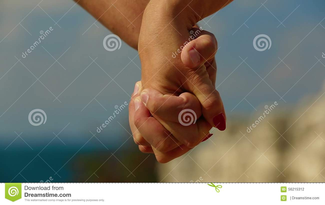 Holding Hands Touch Each Other Stock Footage Video Of Walking