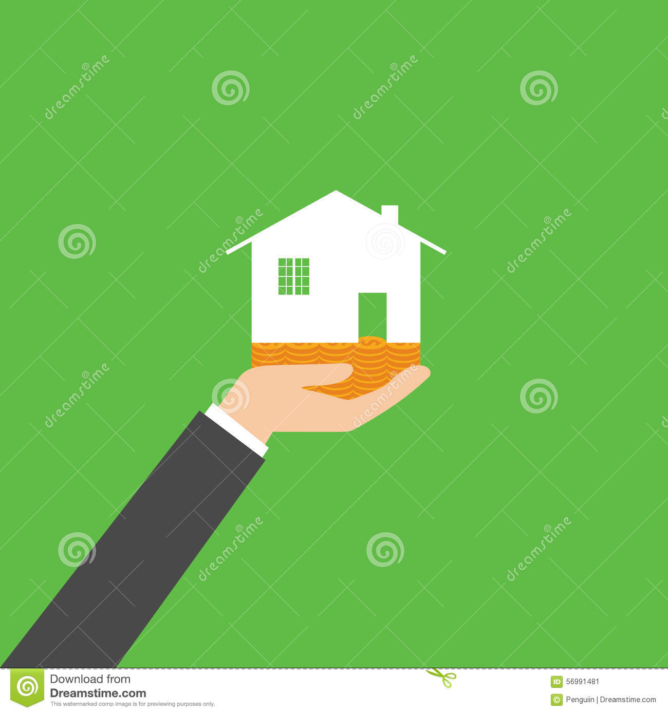 business ownership stock illustration image  holding house representing home ownership and the real estate business vector stock image