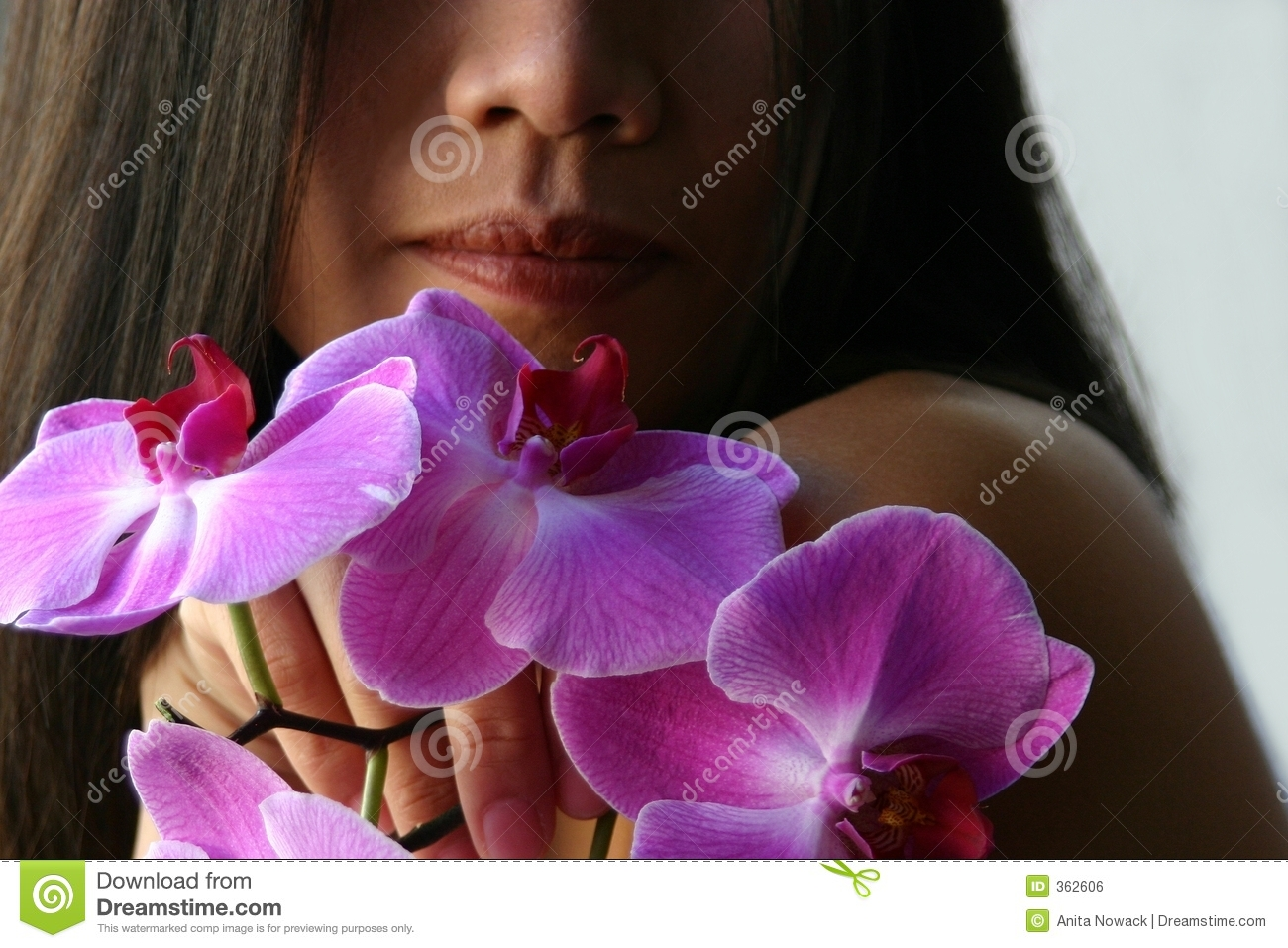 Holding orchids
