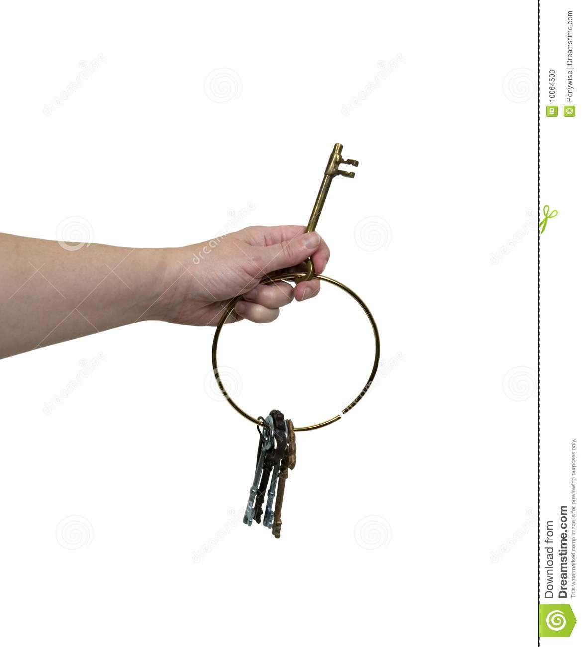 Holding out the key