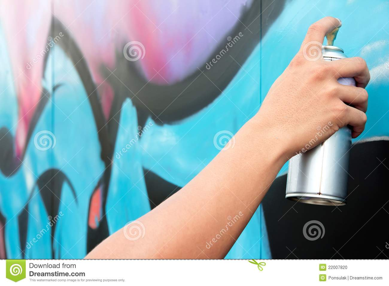 holding spray paint on the wall graffiti stock photo image 22007820. Black Bedroom Furniture Sets. Home Design Ideas