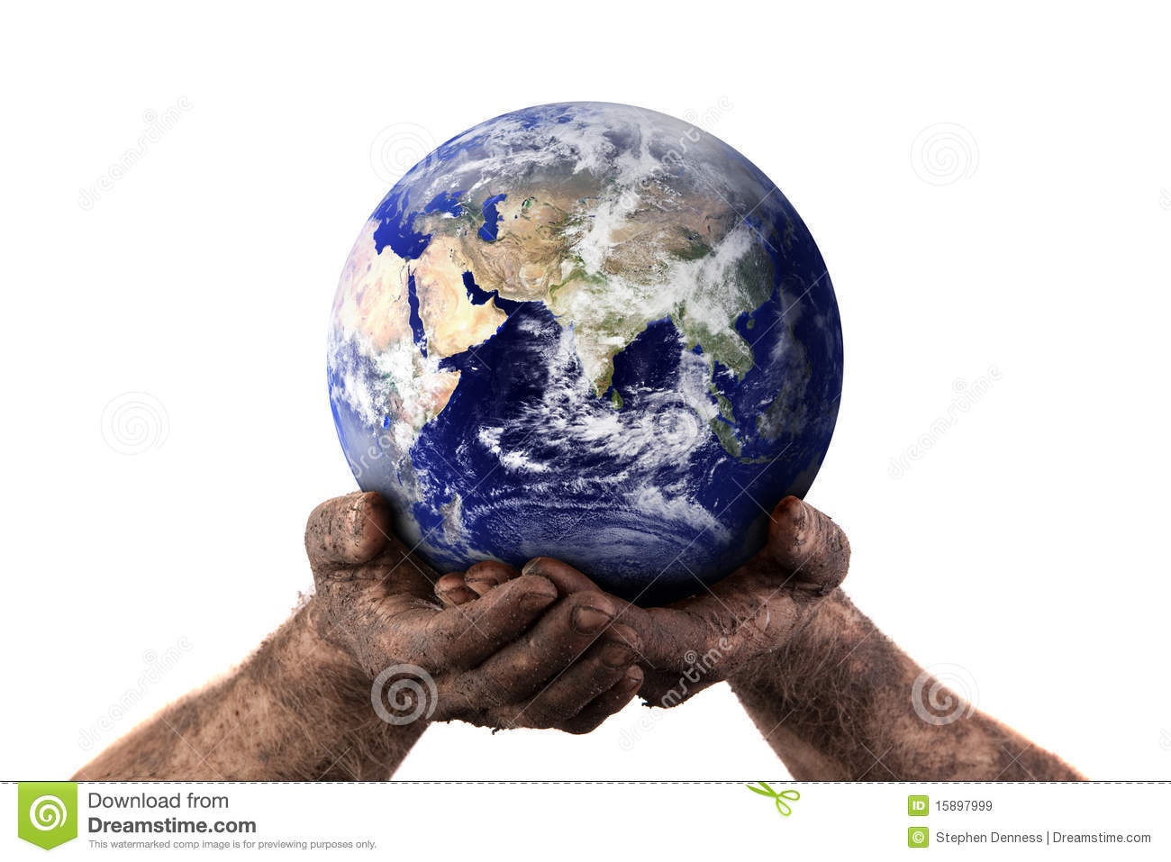 Holding the world with dirty hands