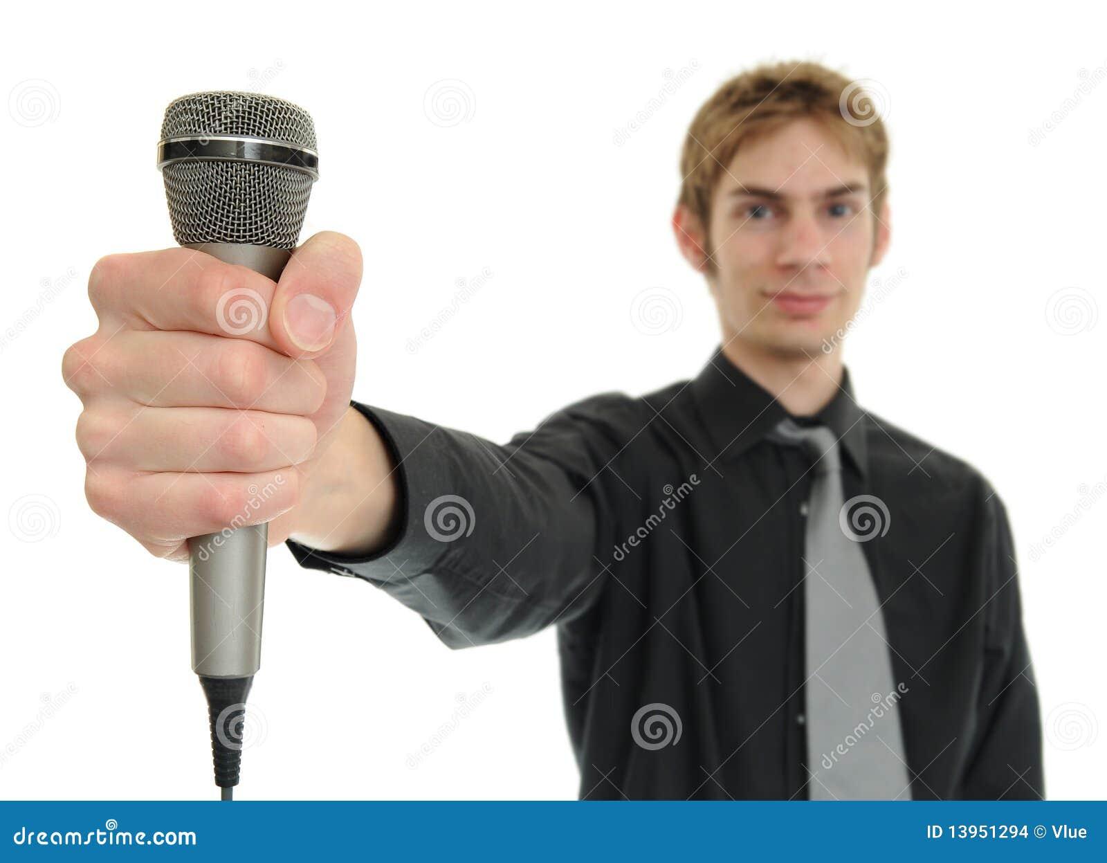 Holdingmanmikrofon