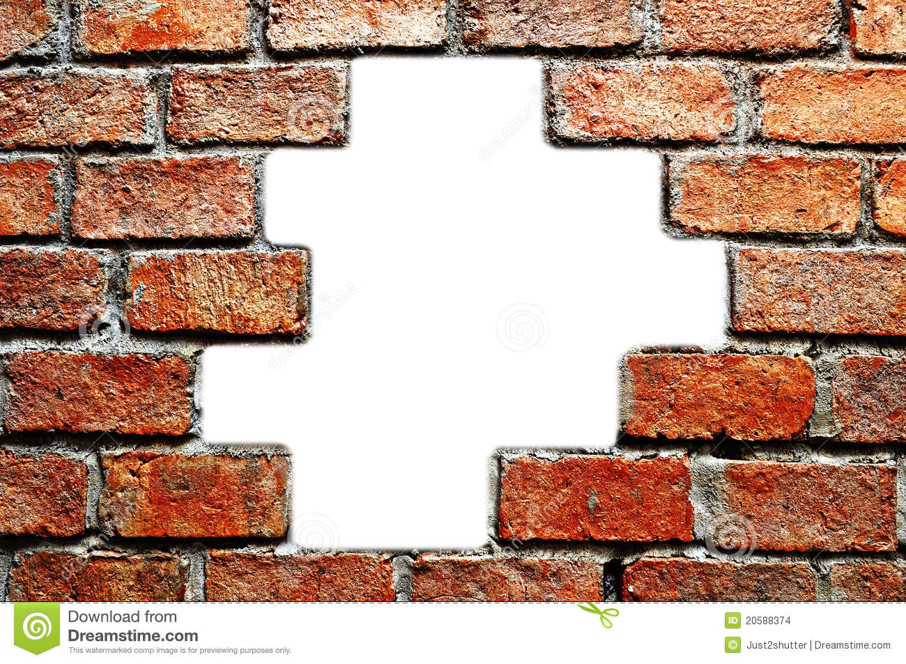 Hole In Ancient Brick Wall Stock Images Image 20588374