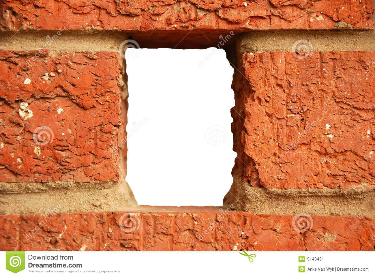 Hole In Brick Wall Stock Image Image Of Architecture