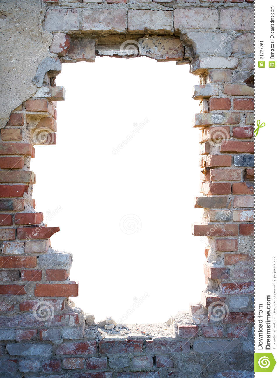 Hole In The Brick Wall With Copy Space Stock Image - Image ...