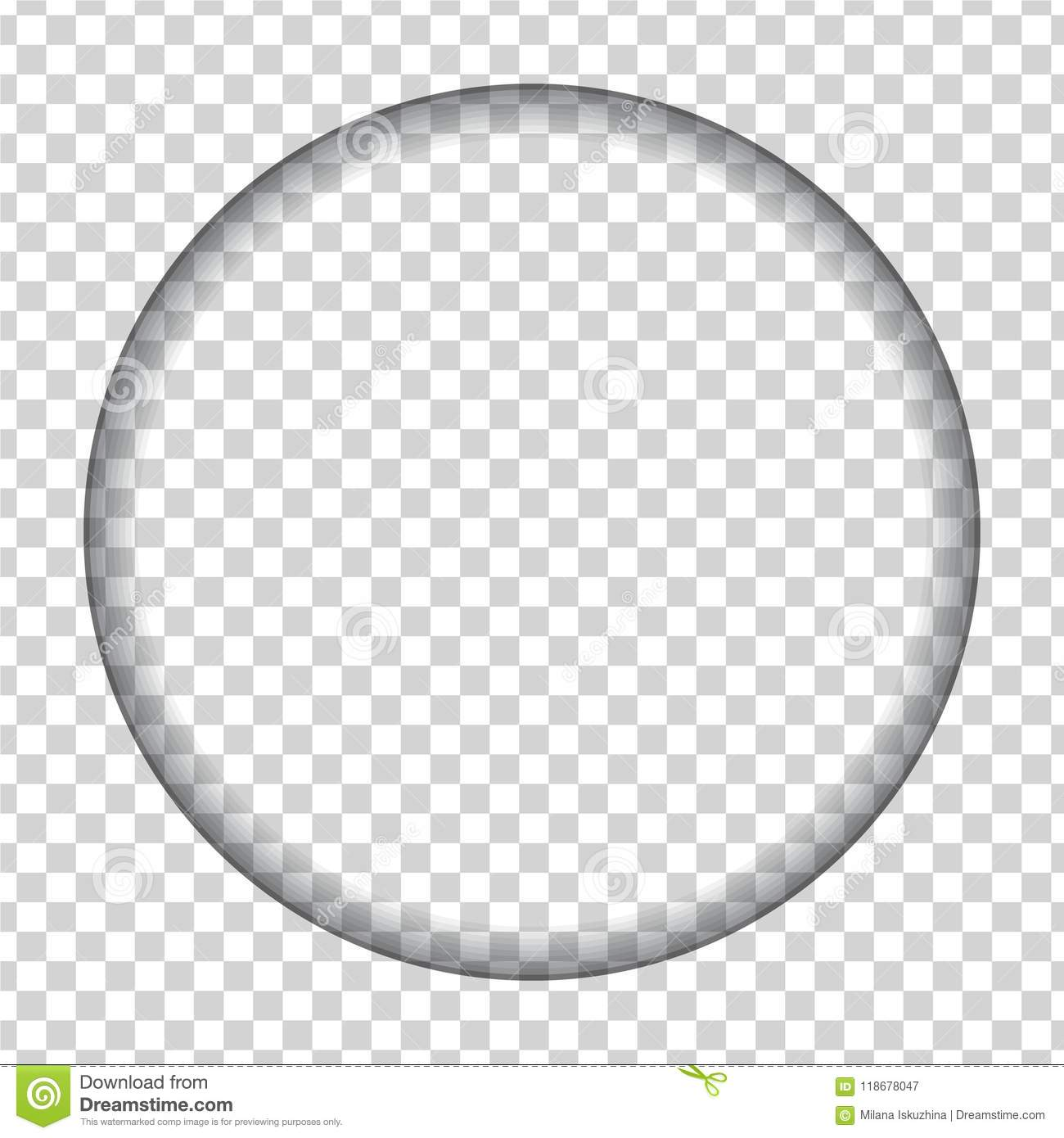 Hole Cut In The Shape Of A Circle With Shadow Stock Vector