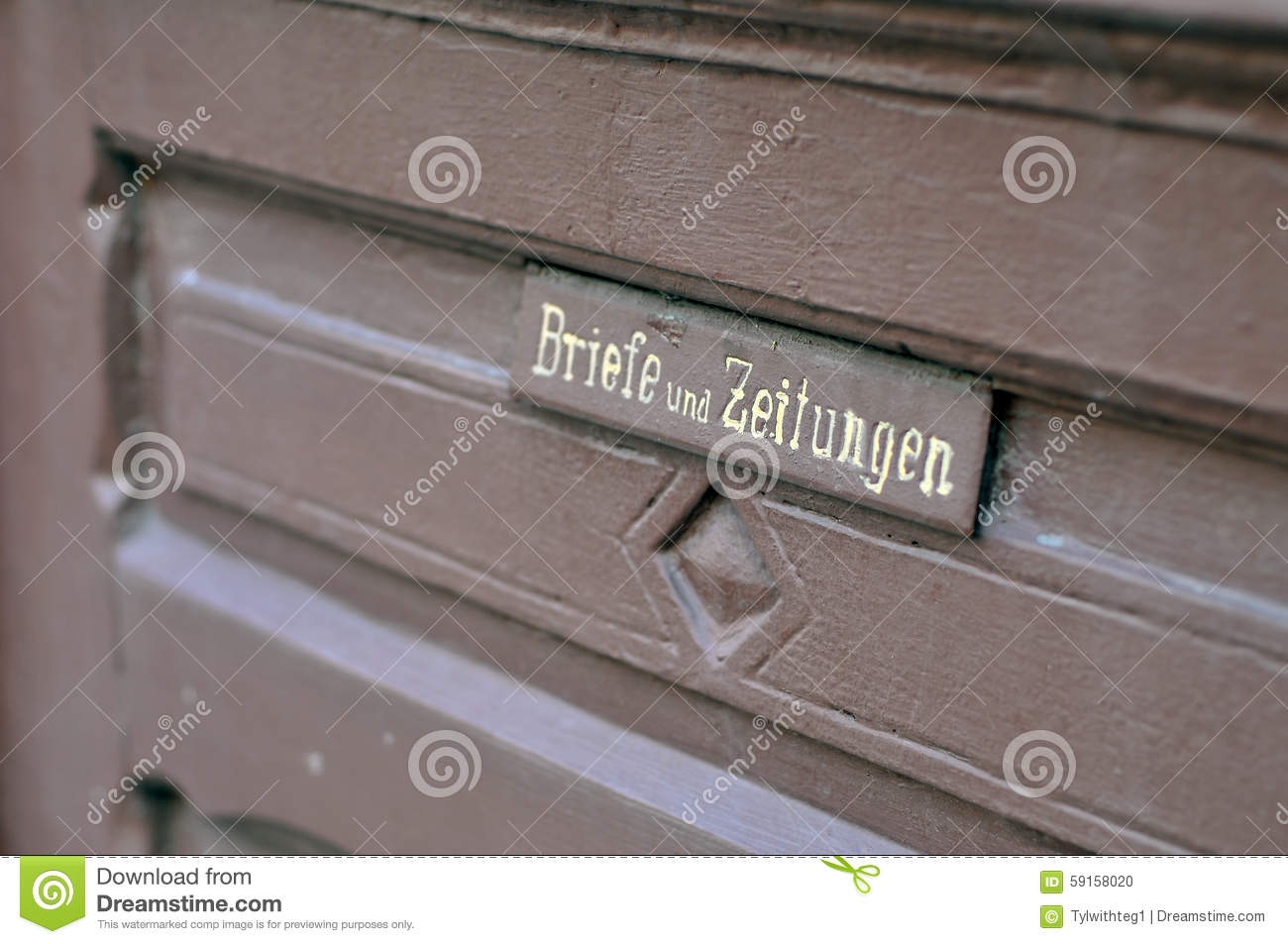 Royalty-Free Stock Photo & Hole For Letter At German Door Stock Photo - Image of tourism ...