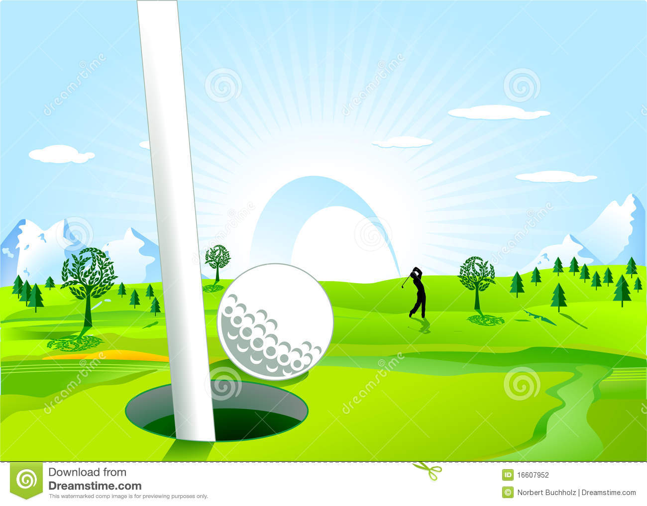 Hole in one stock photography image 16607952