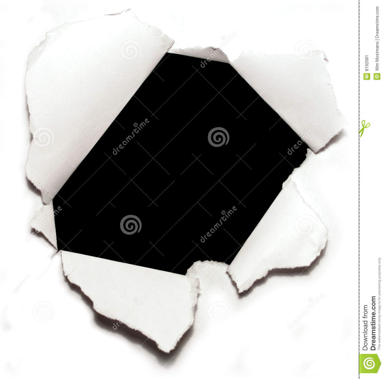 Torn Piece of Paper with Holes