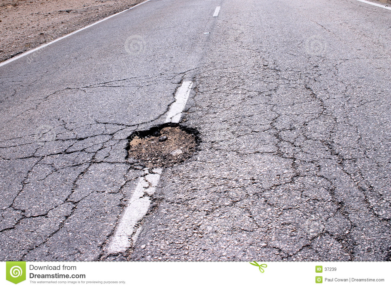 Hole in the road