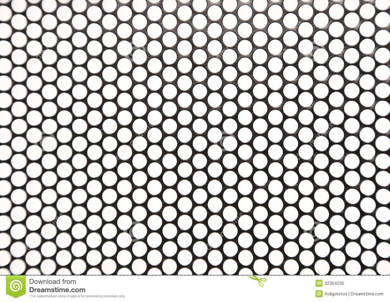 Holed Metal Stock Image Image Of Shapes Black Lines