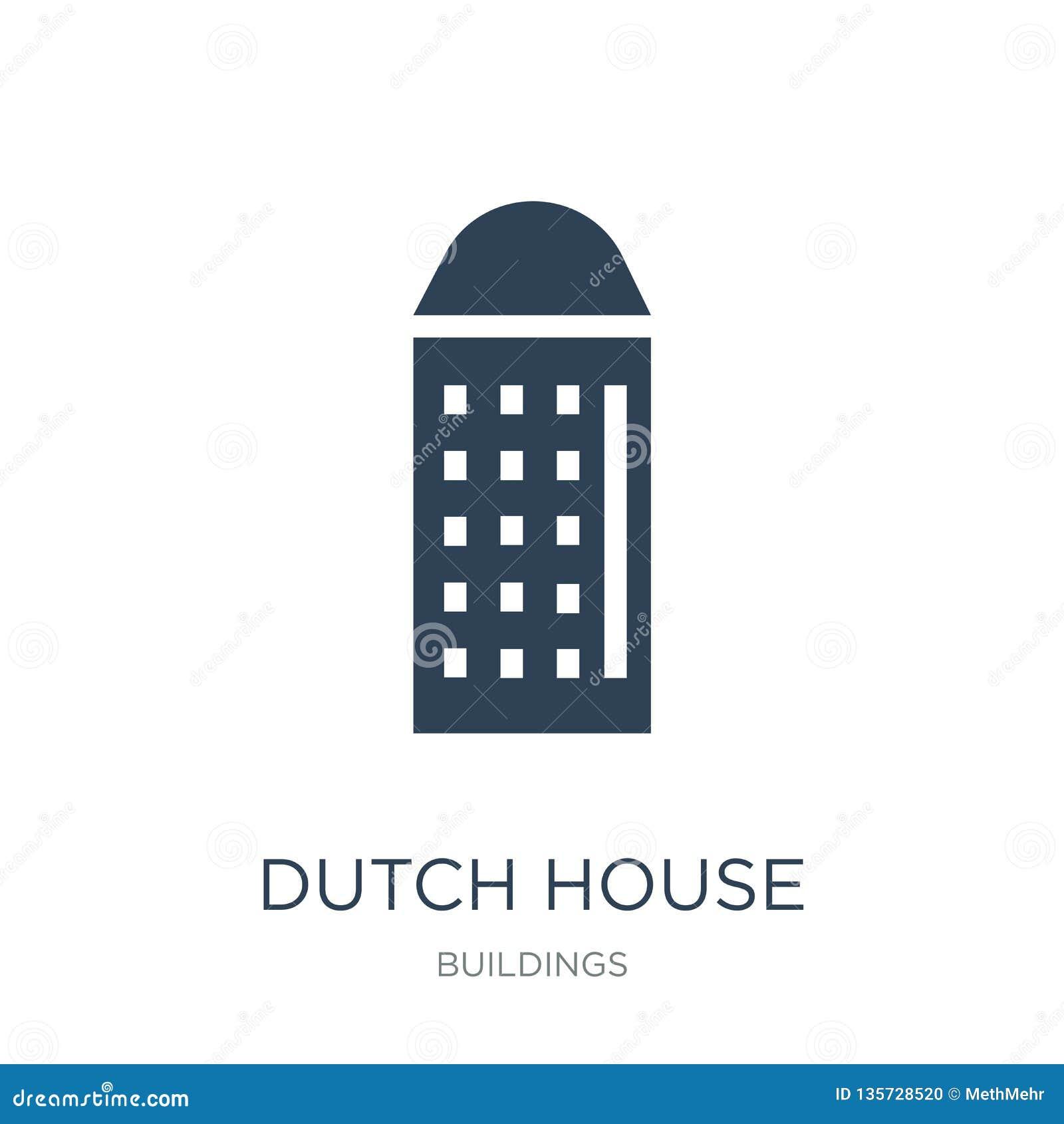 Holender domowa ikona w modnym projekta stylu holender domowa ikona odizolowywająca na białym tle holender domowa wektorowa ikona
