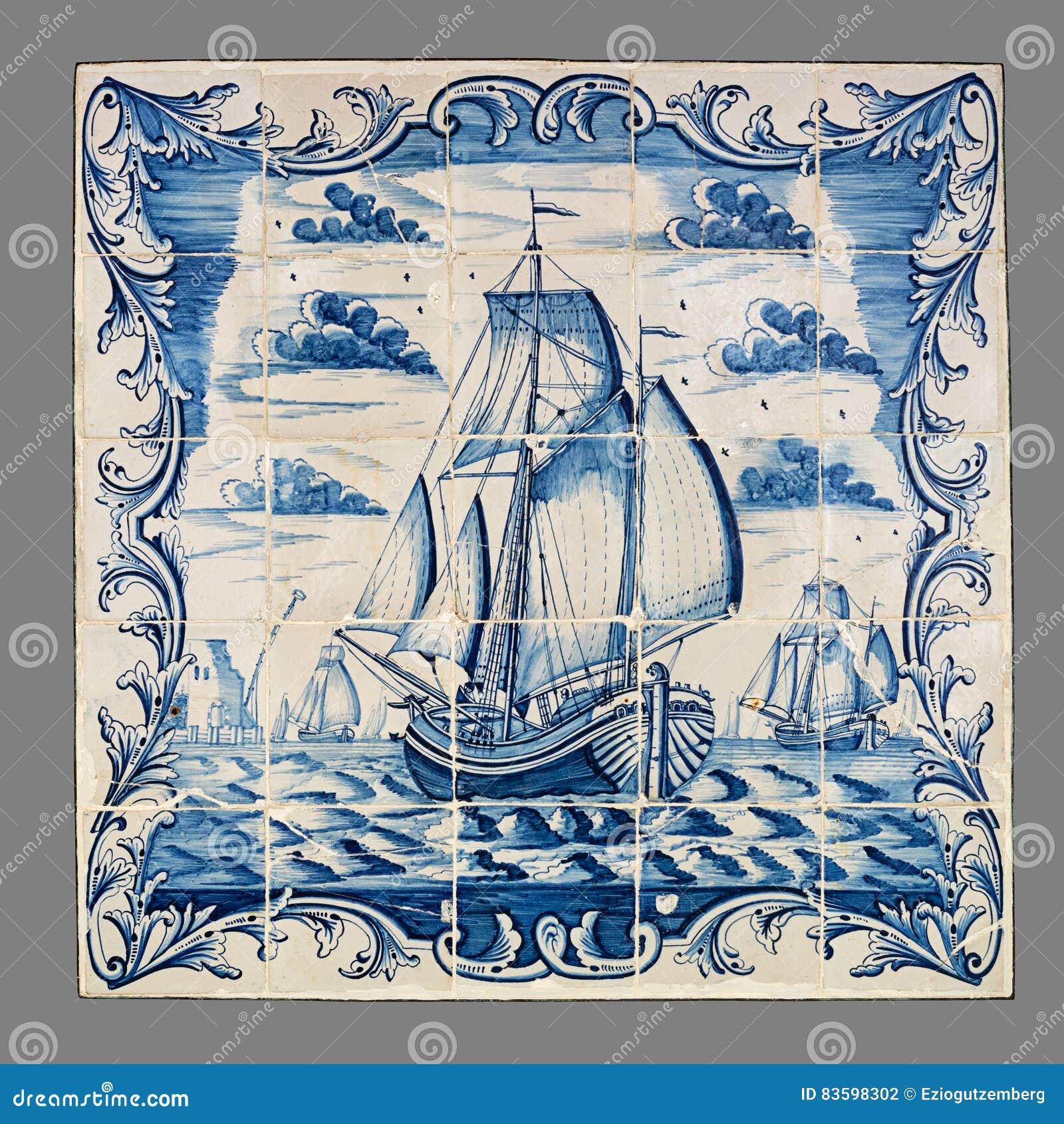 Holender płytka od 16th xviii wiek