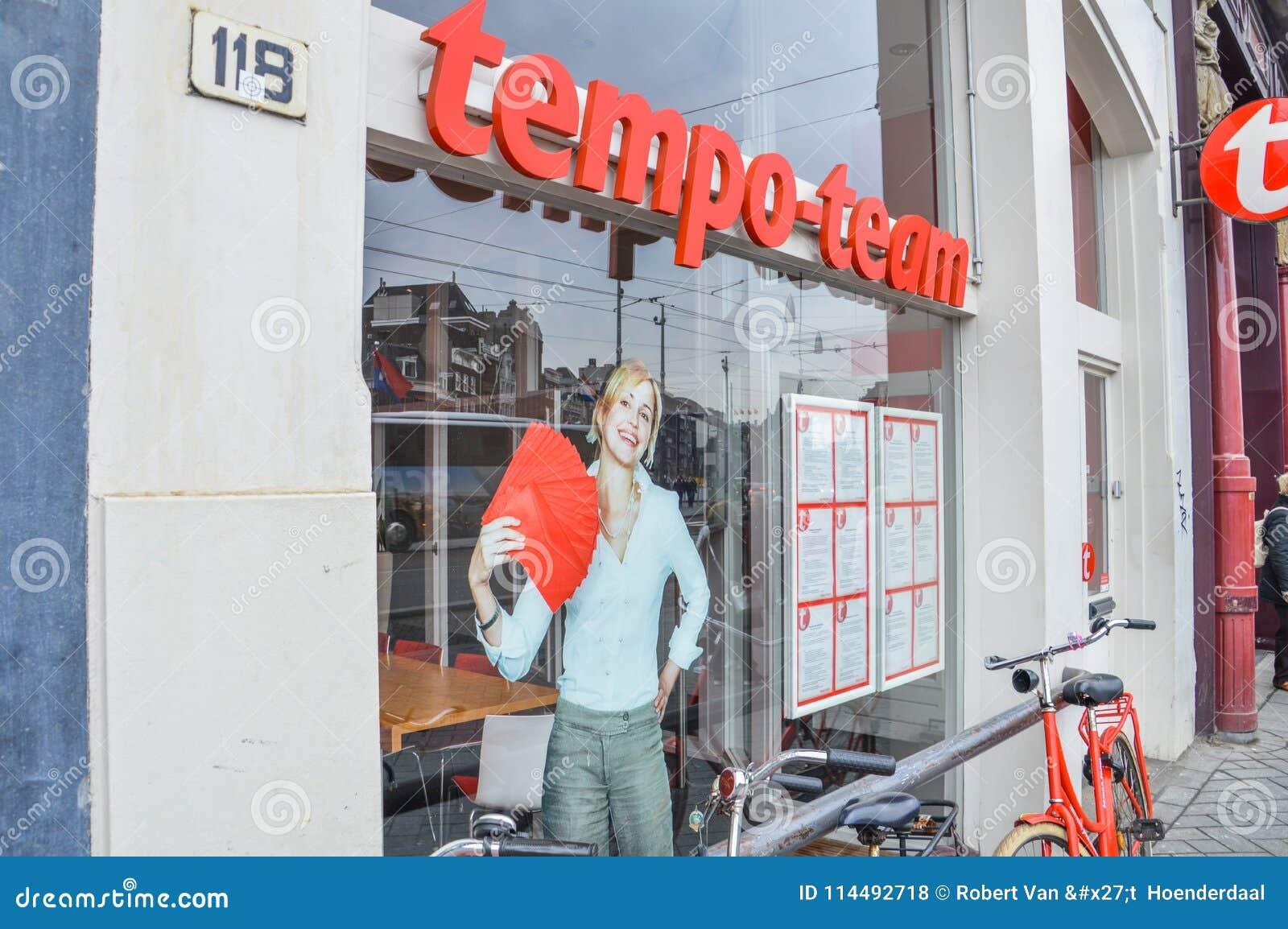 Holenderska Zatrudnieniowa agencja Nazwana drużyna Przy Amsterdam holandie