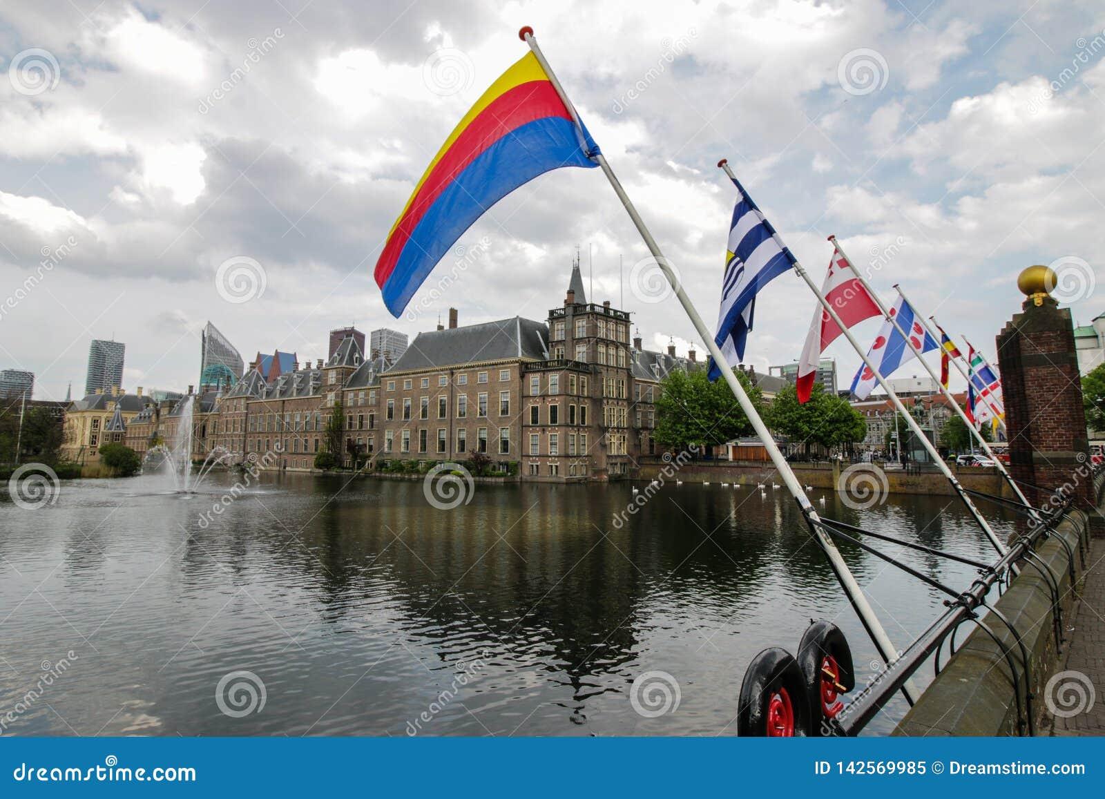 Holenderskie prowincjonał flagi w Haga