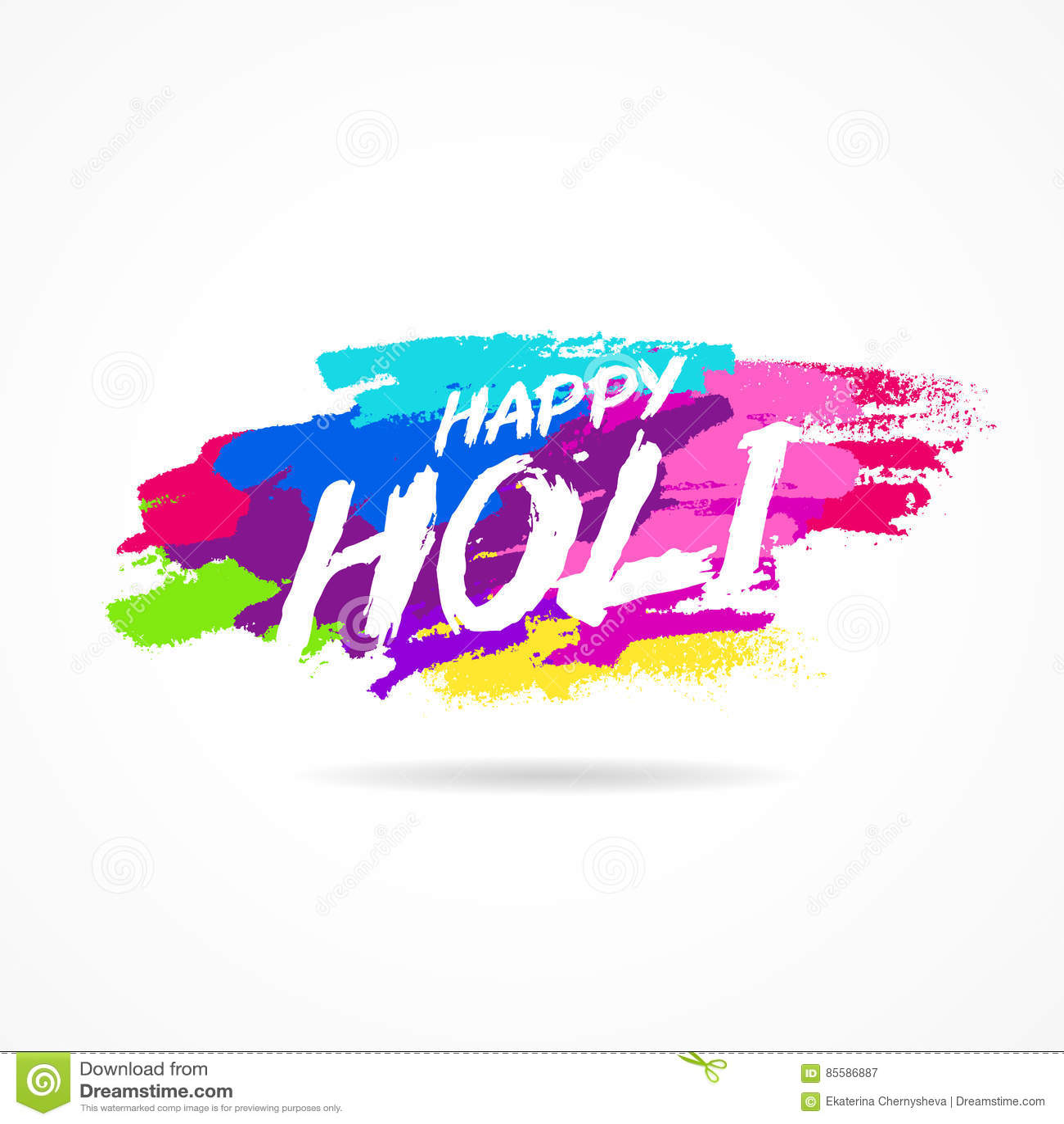 Holi feliz Festival das cores