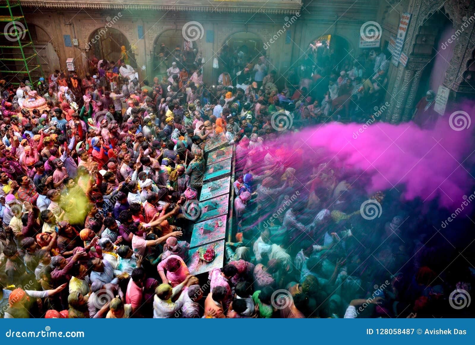 Holi-Festival bei Indien