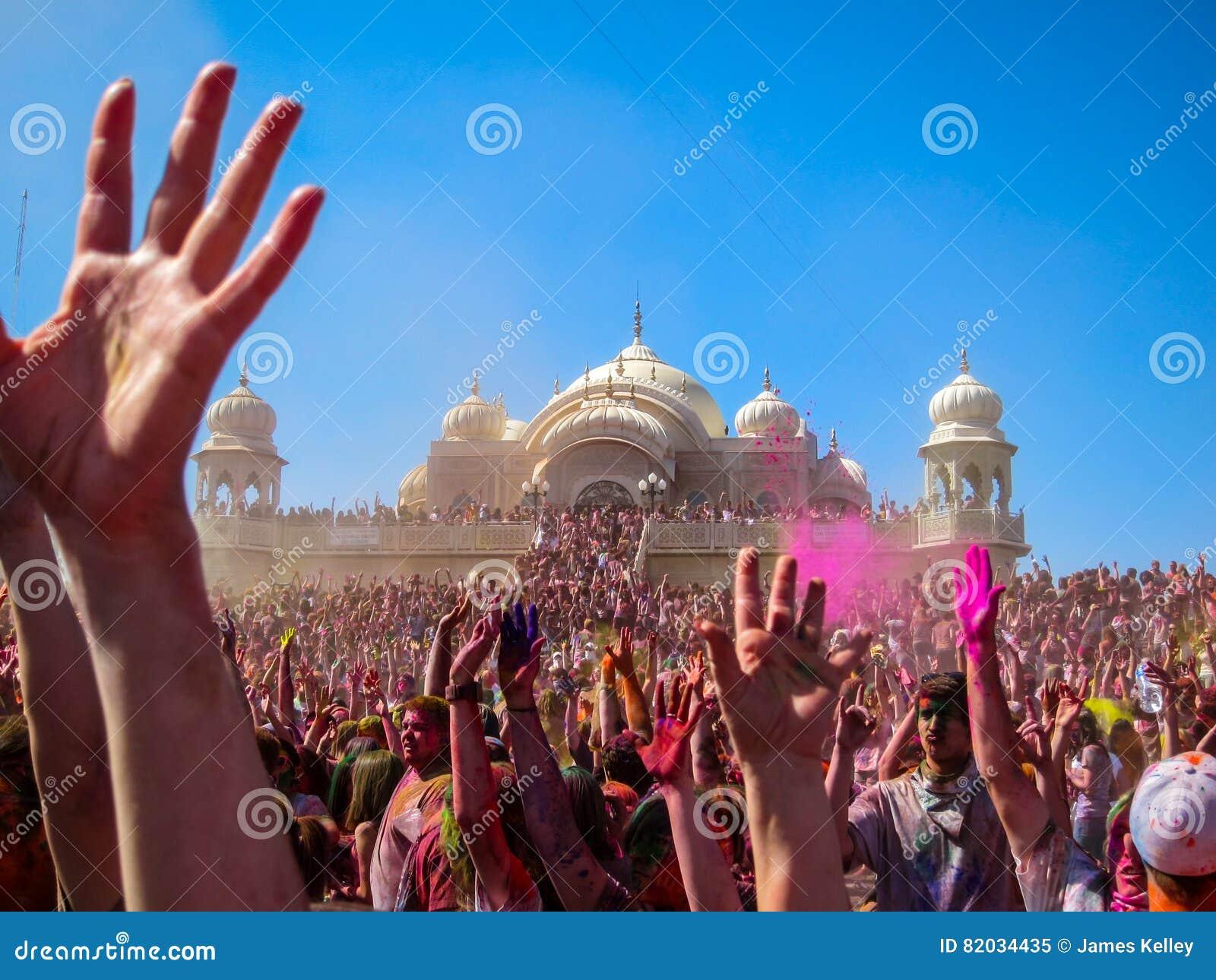 Holi Festival von Farben