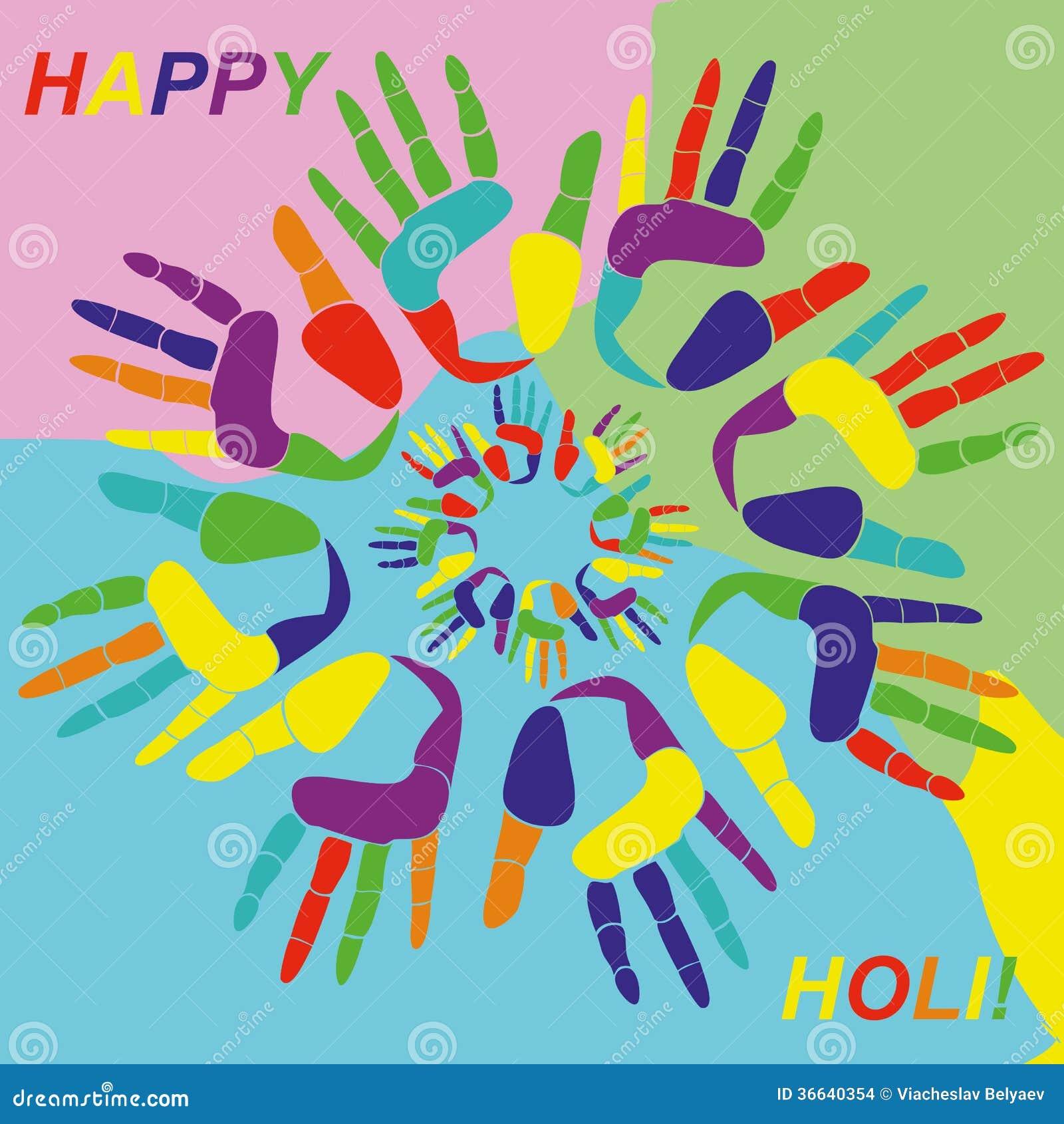 Holi Greeting Card Stock Photo Image Of Indian Holi 36640354