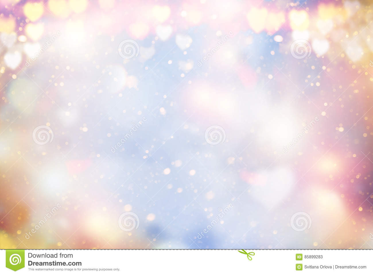 Bokeh Heart Shape Of Light Background Stock Footage Video: Holiday Abstract Pastel Glowing Blurred Background Blur