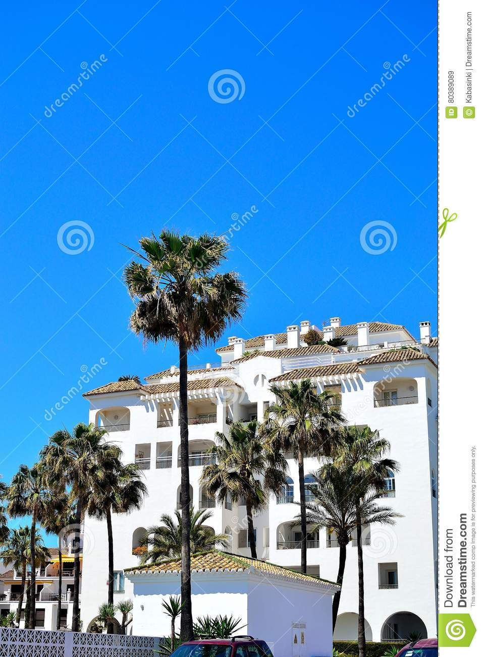 Holiday Apartments In La Duquesa In Spain Editorial Stock ...