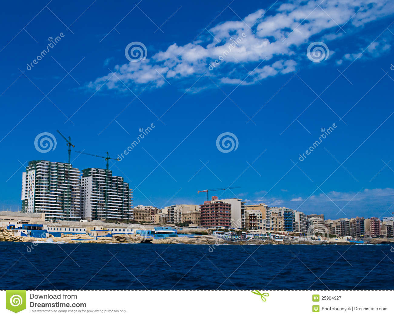 Holiday Apartments In Malta Stock Image - Image of valetta ...