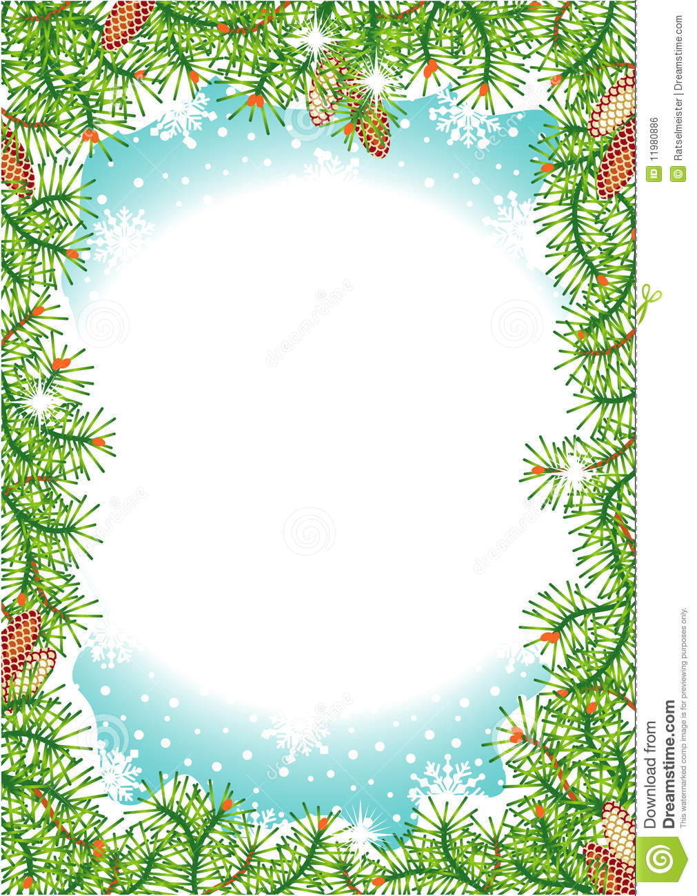 Holiday Background Stock Vector Image Of Green Frames