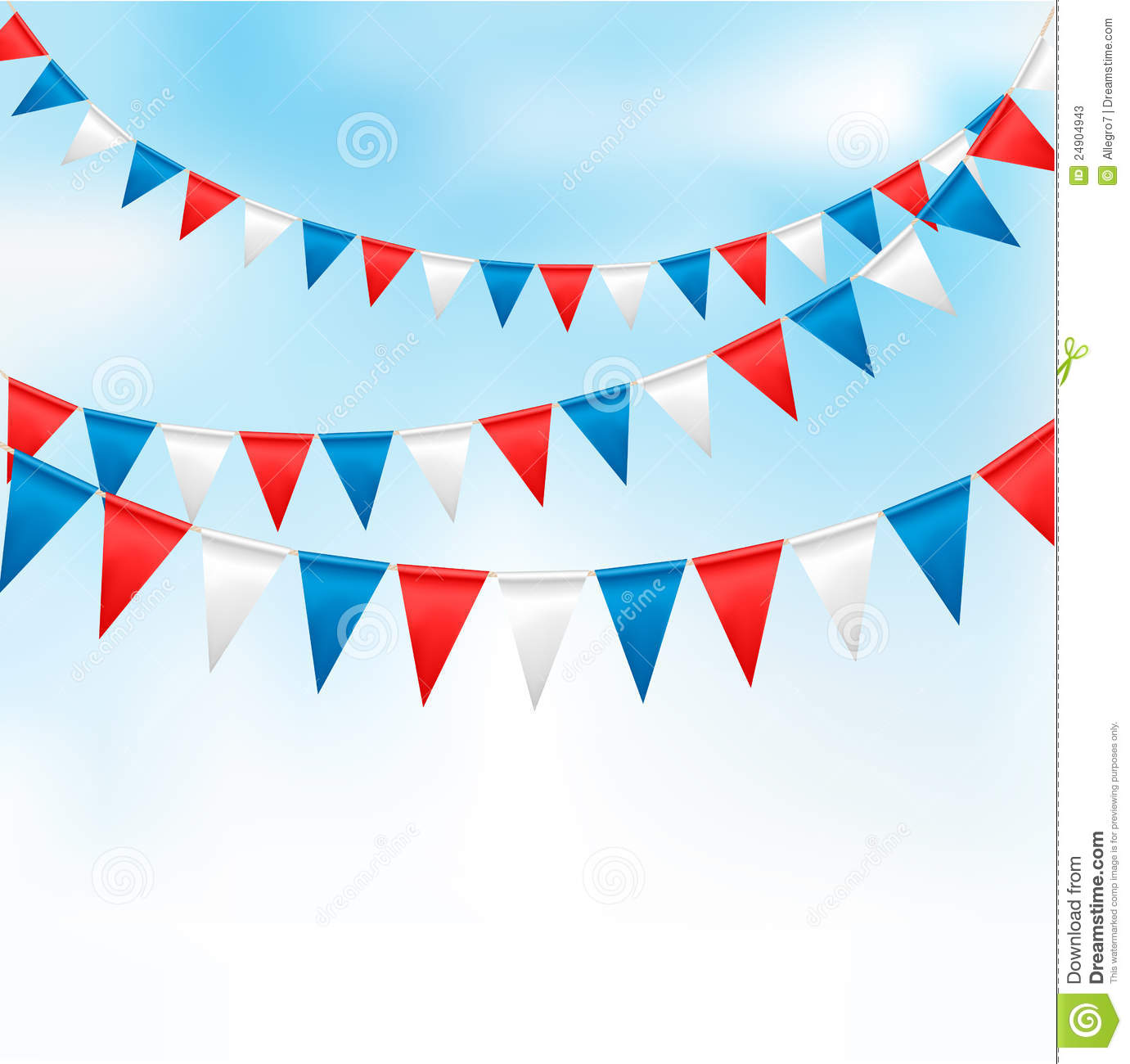 Holiday background with birthday flags