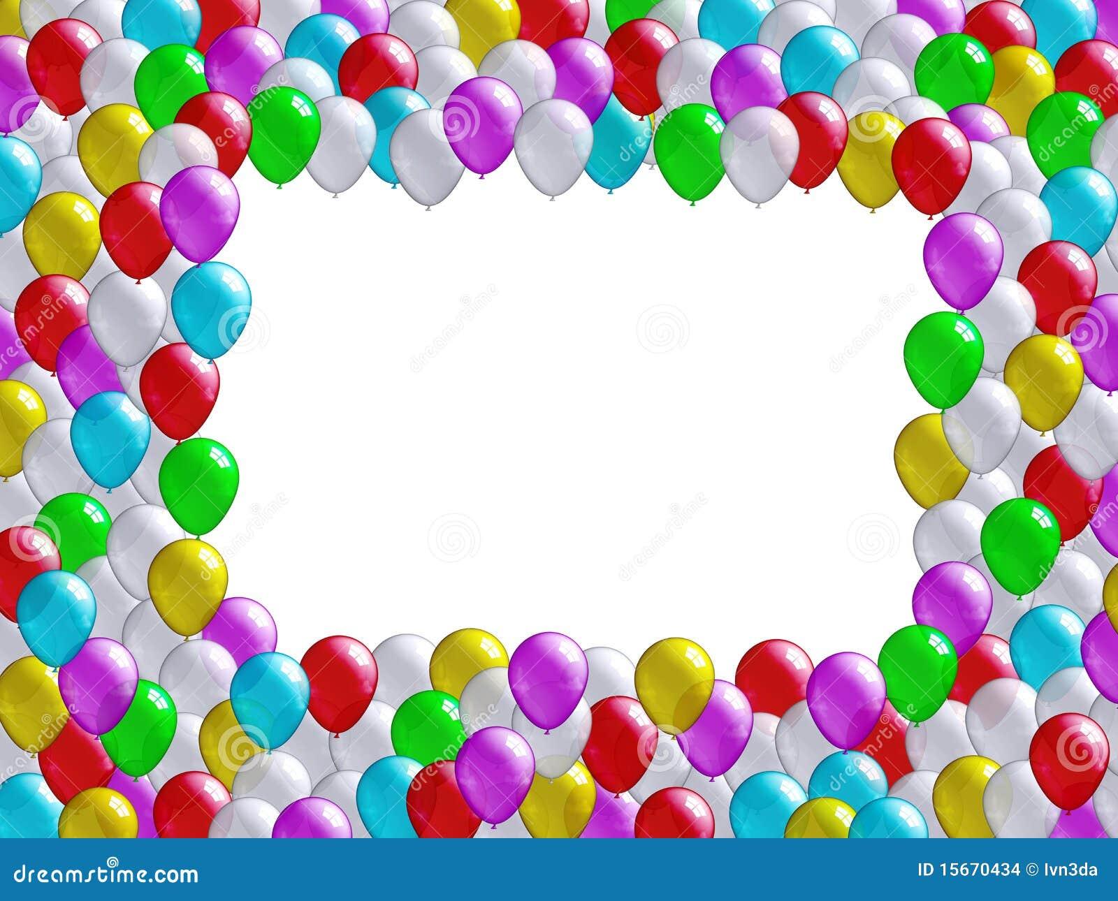 holiday balloons frame